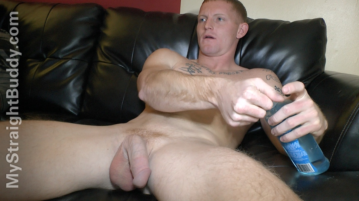 Straight Amateur Punk Jerking Off His Hard Cock