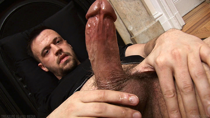 Treasure-Island-Media-TIMJack-Hunter-James-Beefy-Jerk-Off-Cum-Eating-Gay-Porn-2 Amateur Beefy Guy Jerks His Thick Cock and Eats His Hot Cum