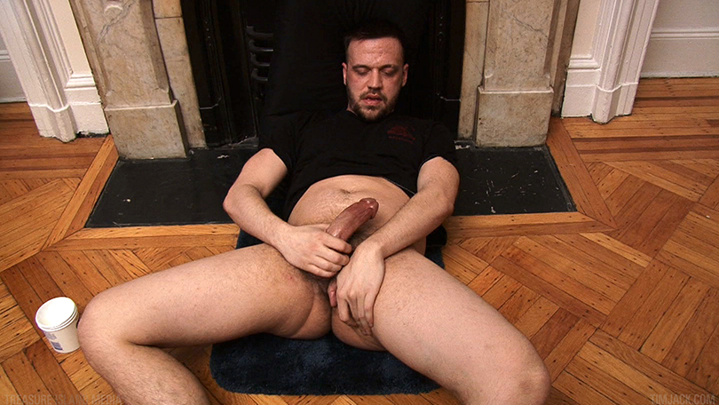 Treasure-Island-Media-TIMJack-Hunter-James-Beefy-Jerk-Off-Cum-Eating-Gay-Porn-5 Amateur Beefy Guy Jerks His Thick Cock and Eats His Hot Cum