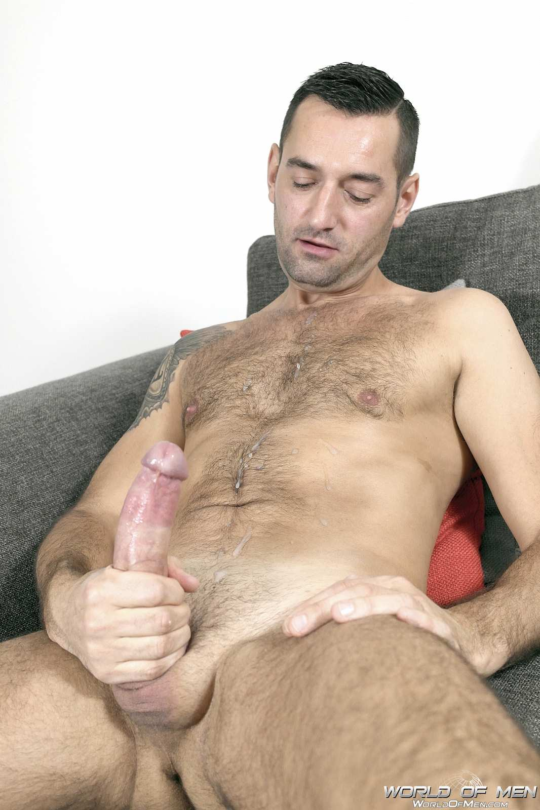 World-Of-Men-Chris-ADam-Big-Uncut-Cock-Jerk-Off-Masturbation-Amateur-Gay-Porn-14 Hairy Sexy Stud Fingers His Ass And Plays With His Huge Uncut Cock