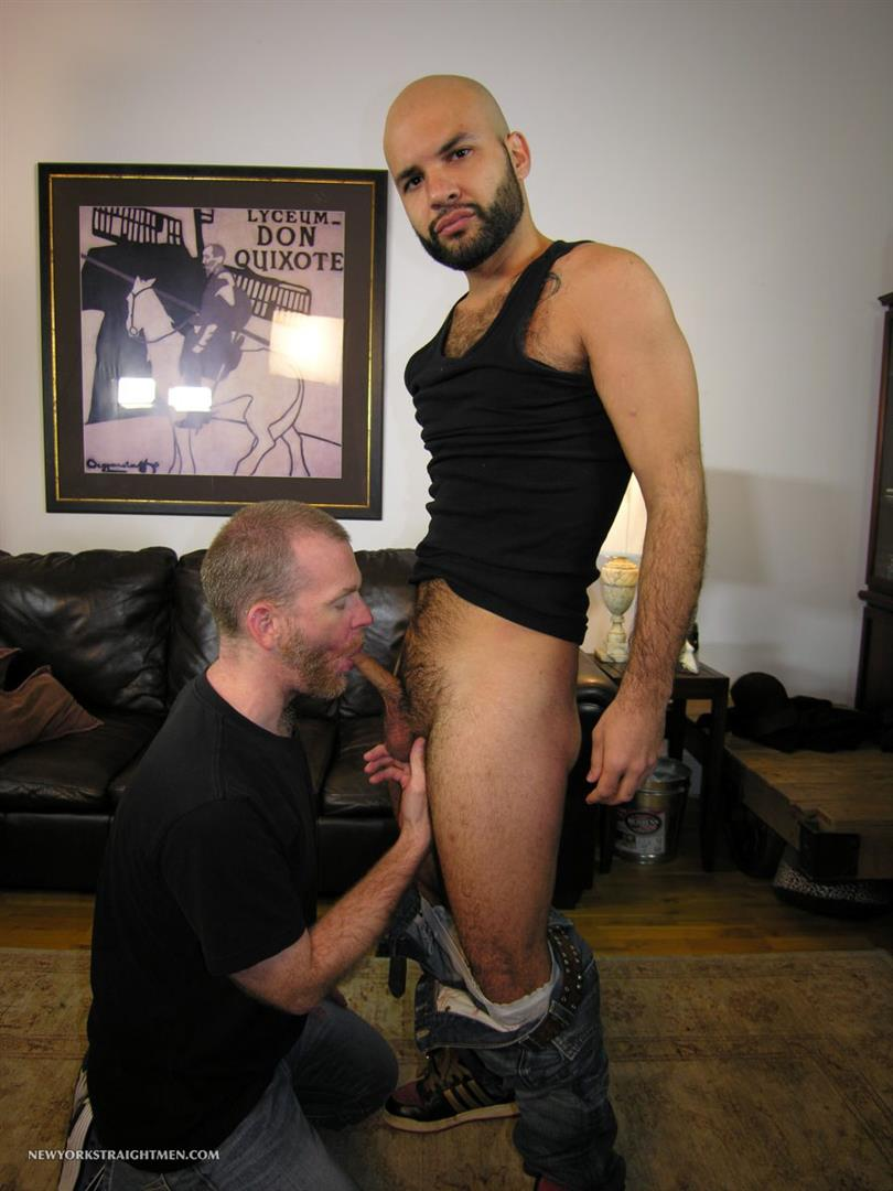 New-York-Straight-Men-Hairy-Straight-Puerto-Rican-Getting-Cock-Sucked-By-A-Guy-Amateur-Gay-Porn-02 Amateur Straight Hairy Puerto Rican Hottie Gets His First Guy Blowjob