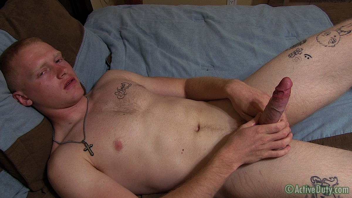 ActiveDuty-Redhead-Nick-Army-Guy-With-Huge-Ginger-Cock-Jerk-Off-Amateur-Gay-Porn-19 Amateur Straight Redheaded Army Stud Jerks His Huge Cock