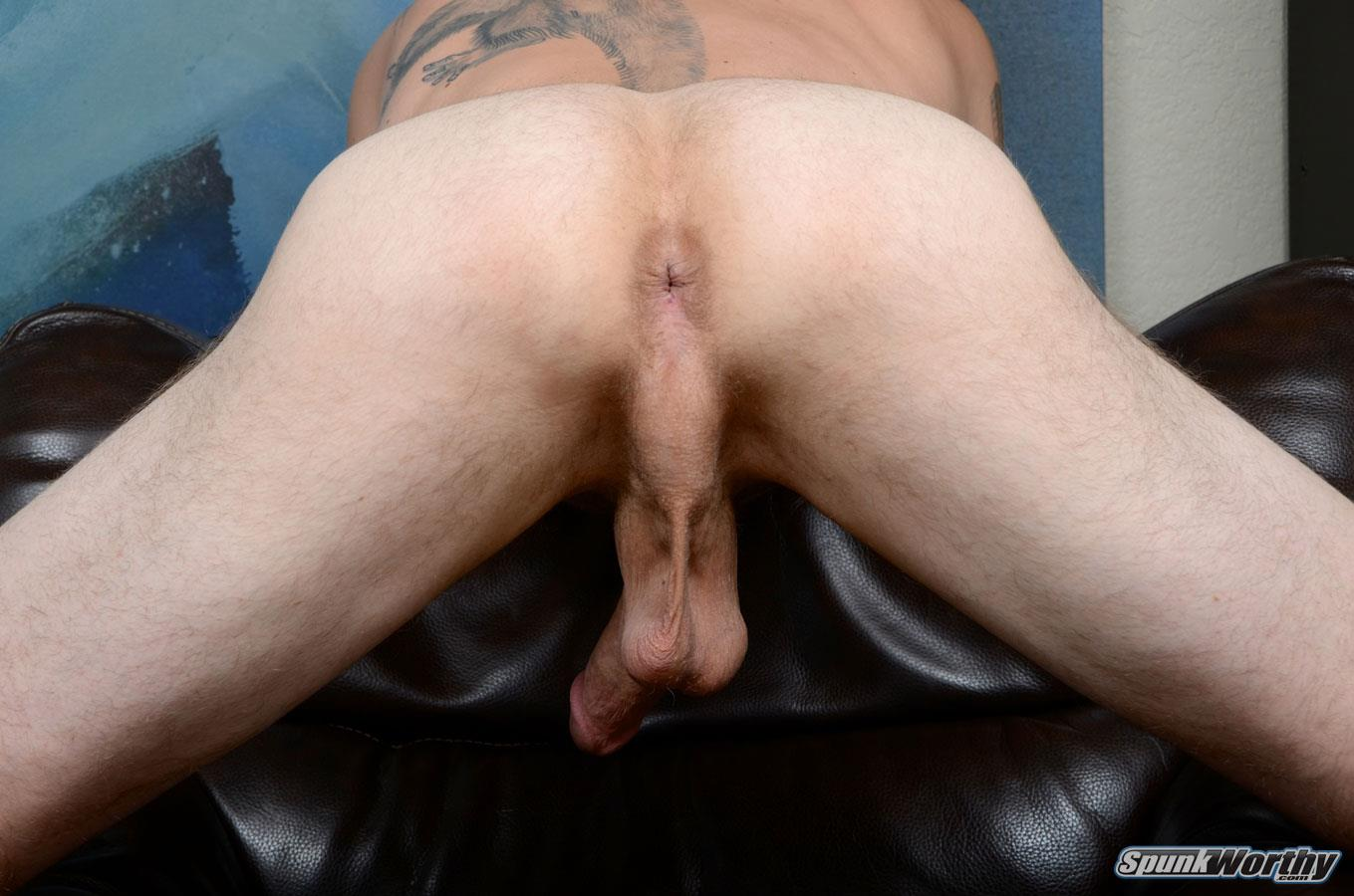 "SpunkWorthy-Dane-Tatted-Marine-Masturbating-8-Inch-Cock-Amateur-Gay-Porn-11 Amateur StraightTatted Marine Jerking His Big 9"" Cock"