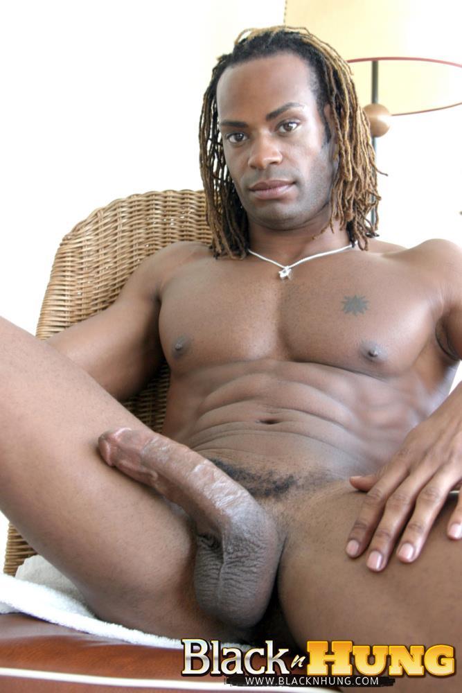 BlacknHung-Marlone-Starr-Hung-Black-Guy-Jerking-His-Big-Black-Cock-Amateur-Gay-Porn-12 Amateur Black Muscle Hunk Marlone Starr Jerks His Big Black Cock