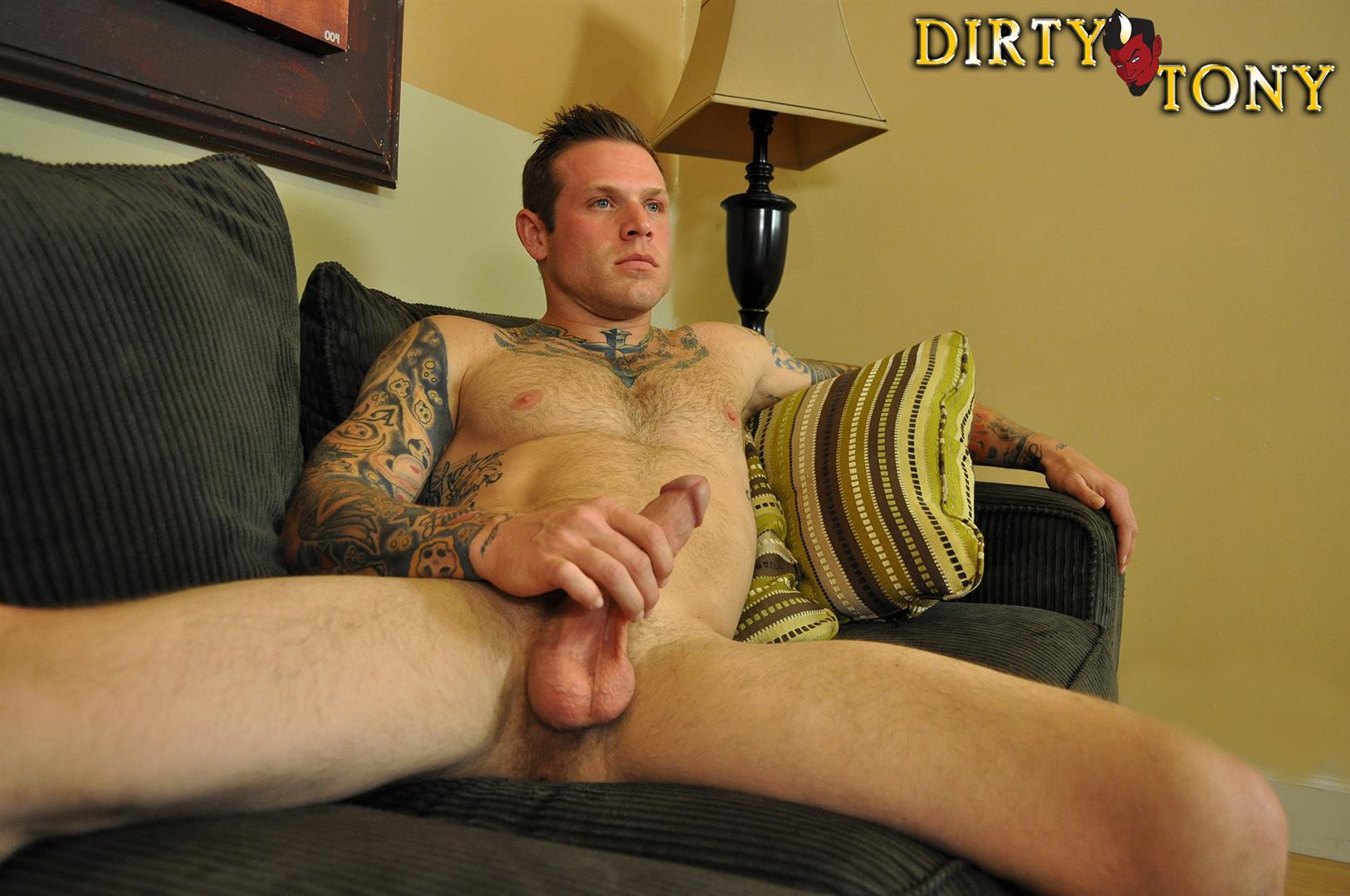 Dirty-Tony-Conor-Michaels-Straight-Hunk-Jerking-His-Big-Cock-Amateur-Gay-Porn-12 Amateur Straight Hairy Tatted Muscle Hunk Stroking His Thick Cock