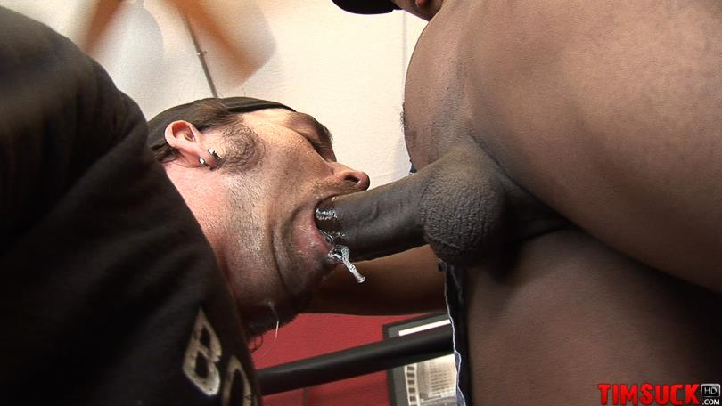 "Treasure-Island-Media-TimSuck-Trevor-and-Javin-Big-Black-Cock-Sucking-Amateur-Gay-Porn-06 White Guy Worshipping A 13"" Black Cock Until It Shoots In His Mouth"