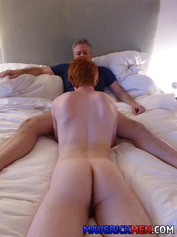 Maverick-Men-Hunter-Josh-Big-Cock-Daddys-Fucking-Ginger-Redhead-Amateur-Gay-Porn-19 Young Virgin Ginger Twink Gets Two Thick Daddy Cocks Bareback