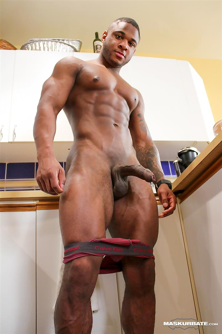 Maskurbate Adam Black Muscle Guy Jerking His Big Black Uncut Cock Amateur Gay Porn 08 Black Bodybuilder Strokes His Big Black Uncut Cock