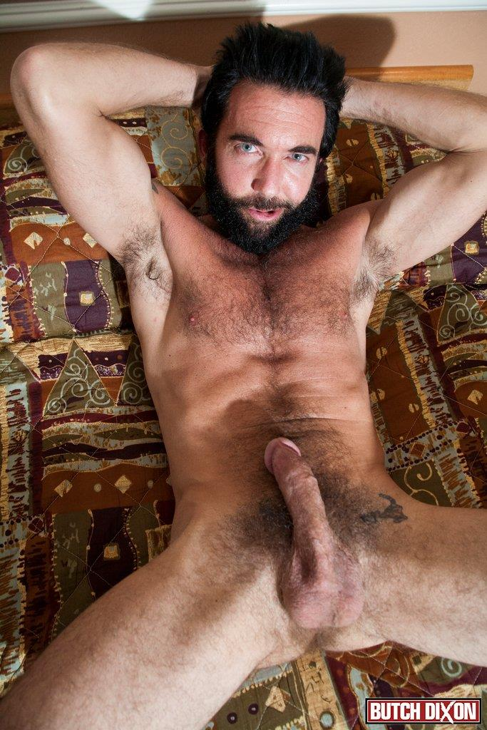 Butch-Dixon-Tom-Nero-Hairy-Daddy-Jerking-Off-A-Big-Fat-Mushroom-Head-Cock-Amateur-Gay-Porn-12 Hairy Stud Tom Nero Jerking His Thick Mushroom Head Cock