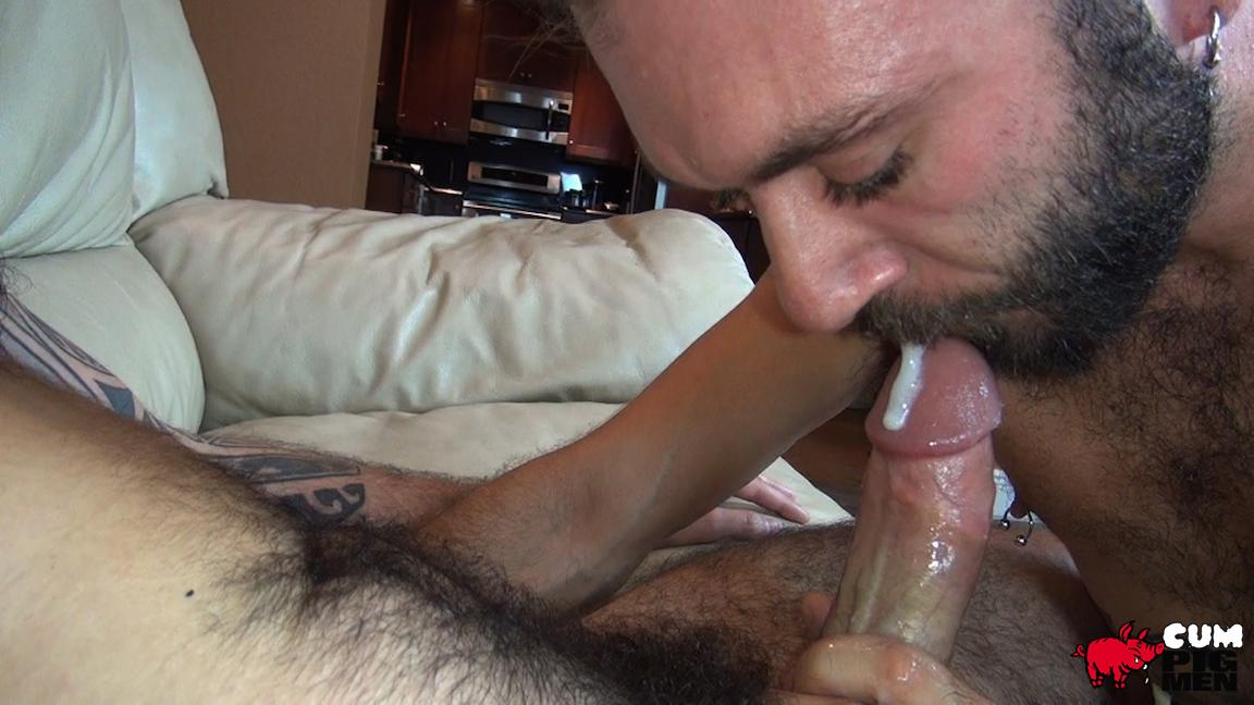 Men eating cum porn