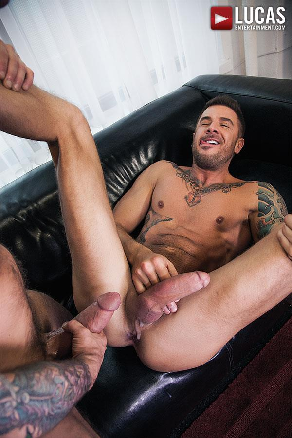 Lucas Entertainment Rocco Steele and Dolf Dietrich Big Cock Barback Muscle Hunks Amateur Gay Porn 10 Rocco Steele Breeding Dolf Dietrich With His Massive Cock
