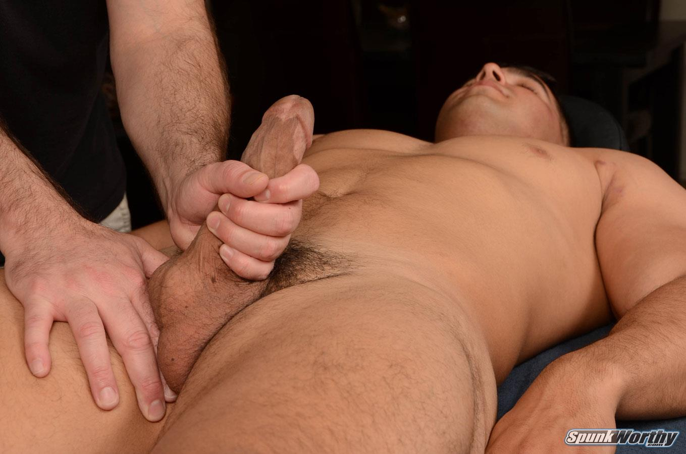 SpunkWorthy-Colt-Beefy-Naked-Marine-Gets-Handjob-From-A-Guy-Amateur-Gay-Porn-16 Straight Beefy US Marine Gets His First Handjob From A Guy