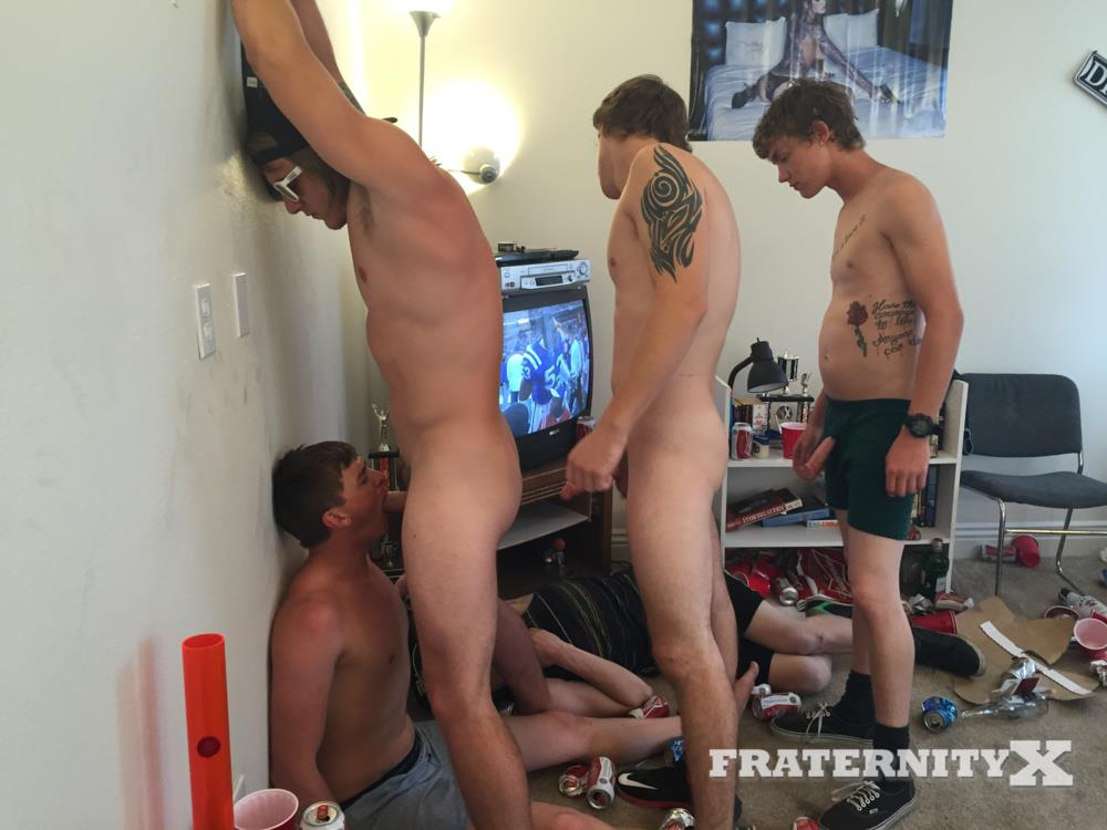 Fraternity X College Frat Guys Naked and Fucking Bareback Amateur Gay Porn 28 Drunk Frat Guys Getting Stoned and Barebacking A Freshman Pledge
