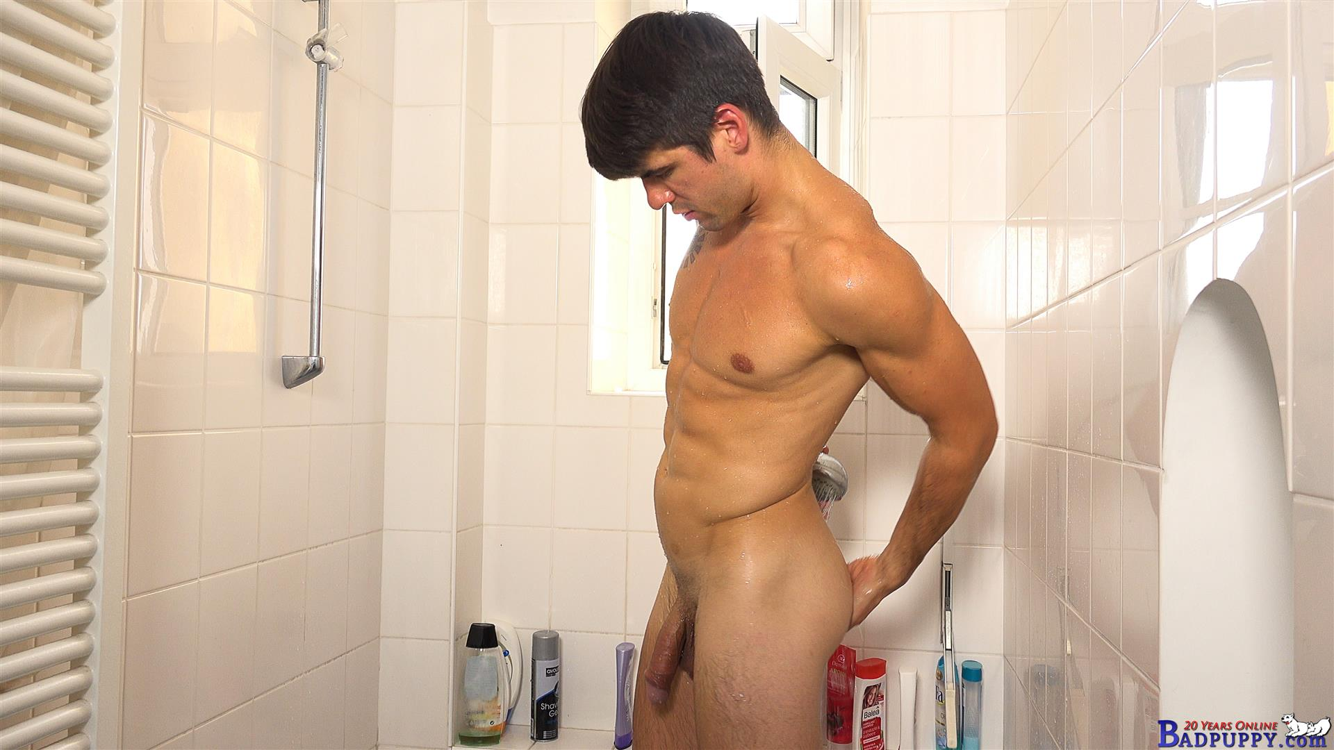 Badpuppy-Milan-Pis-Straight-Guy-With-Big-Uncut-Cock-Masturbating-Amateur-Gay-Porn-26 Straight Italian Banker Masturbating His Big Uncut Cock