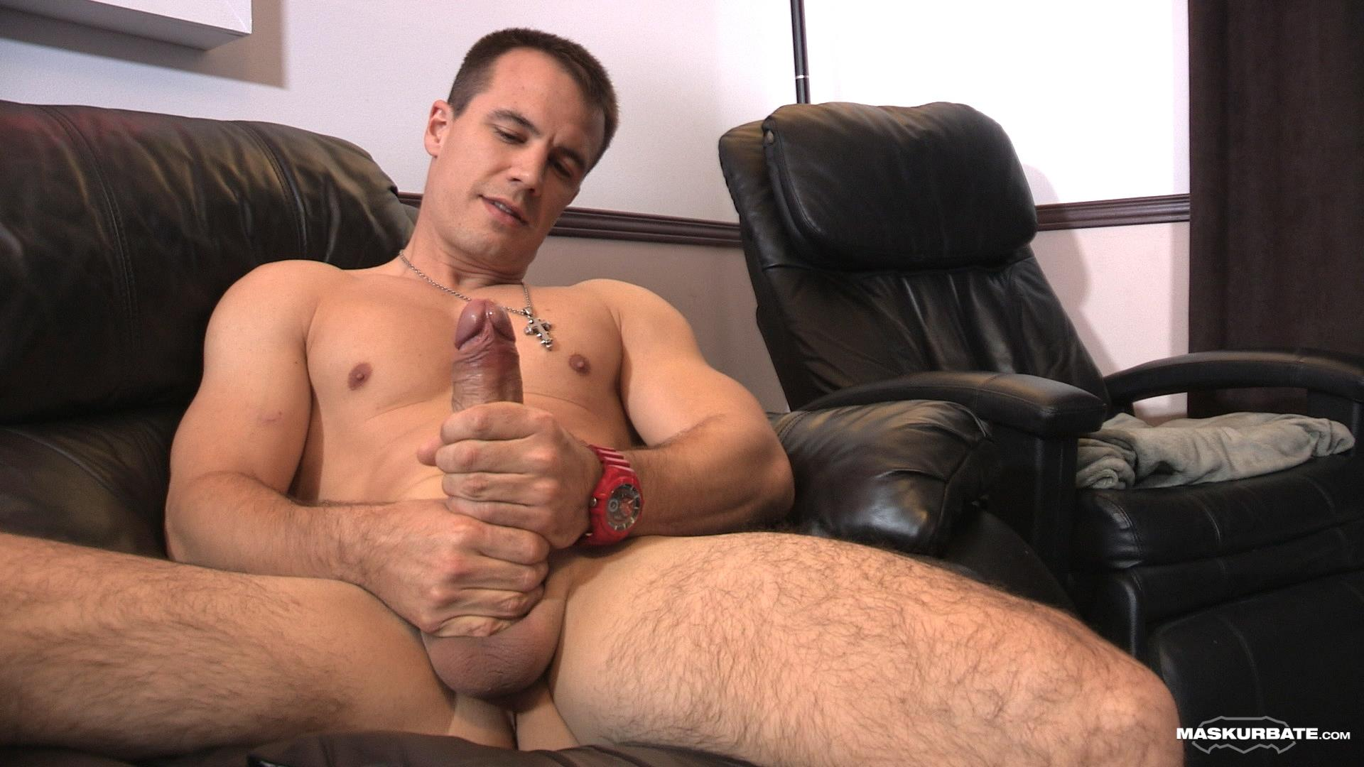 Maskurbate-Ricky-Straight-Guy-Masturbate-Big-Uncut-Cock-Amateur-Gay-Porn-09 Ricky Jerks His Huge Uncut Cock Until Jizz Shoots