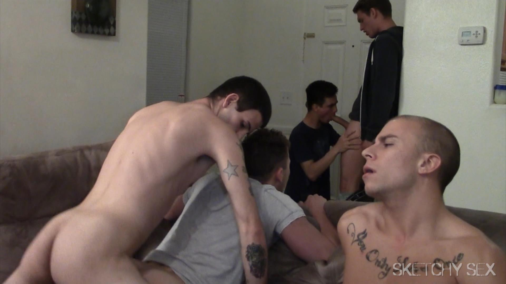 Sketchy-Sex-Bareback-Breeding-Party-Amateur-Gay-Porn-17 Hosting An Anonymous Bareback Breeding Party