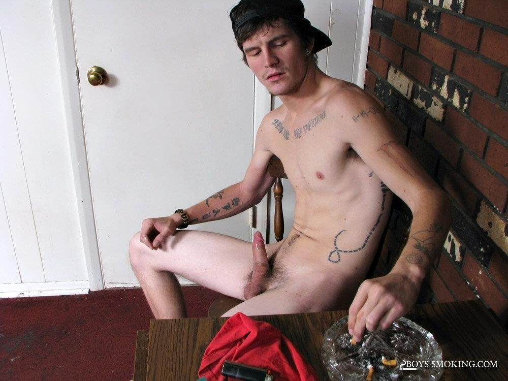 Boys-Smoking-Lex-Chain-Redneck-With-A-Big-Cock-Masturbation-Amateur-Gay-Porn-20 Straight Redneck Smokes While Stroking His Big Hard Cock