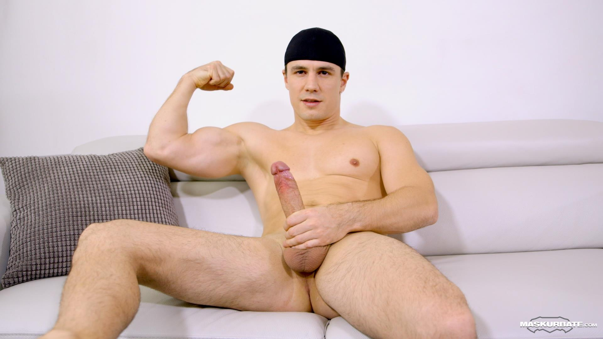 Maskurbate-Ricky-Muscl-Jock-Stroking-His-Big-Uncut-Cock-Amateur-Gay-Porn-10 Smooth Muscle Jock Stroking His Big Uncut Cock