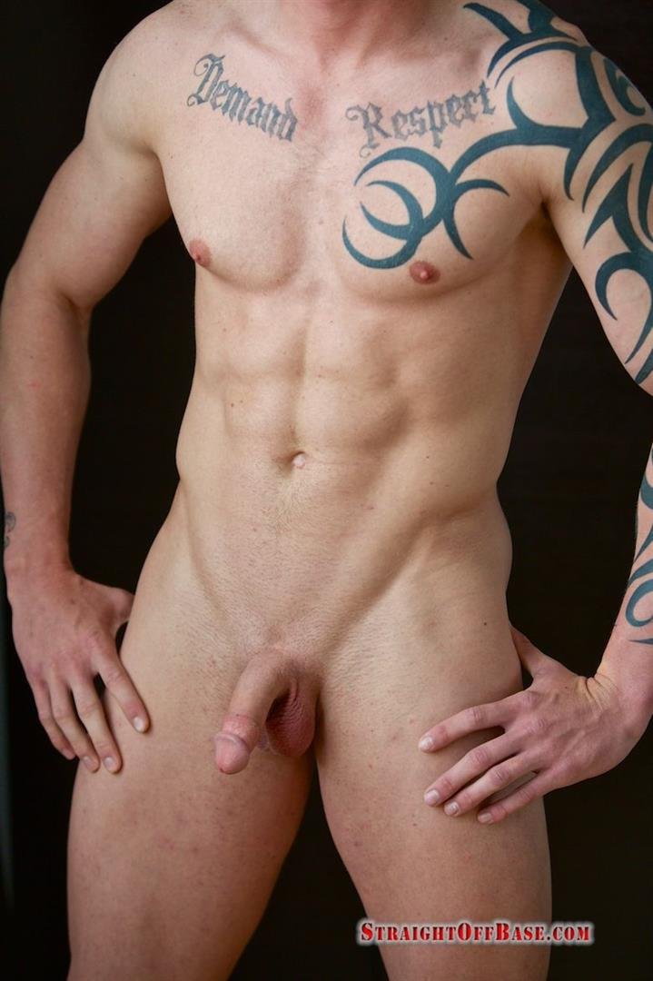 Straight-Off-Base-Shane-Naked-Marine-Jerk-Off-Amateur-Gay-Porn-07 Muscled Marine Corporal Jerks His Smooth Shaved Cock