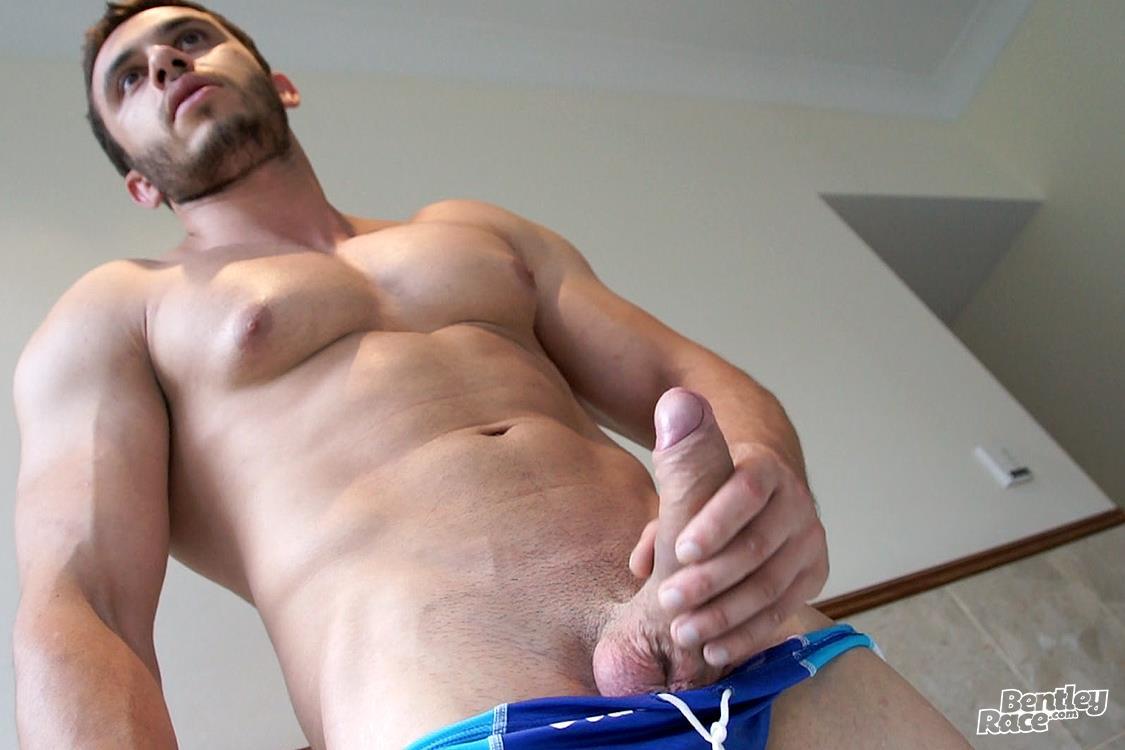 Bentley-Race-James-Nowak-Aussie-Big-Uncut-Cock-Amateur-Gay-Porn-29 Aussie James Nowak Jerks His Big Thick Uncut Cock