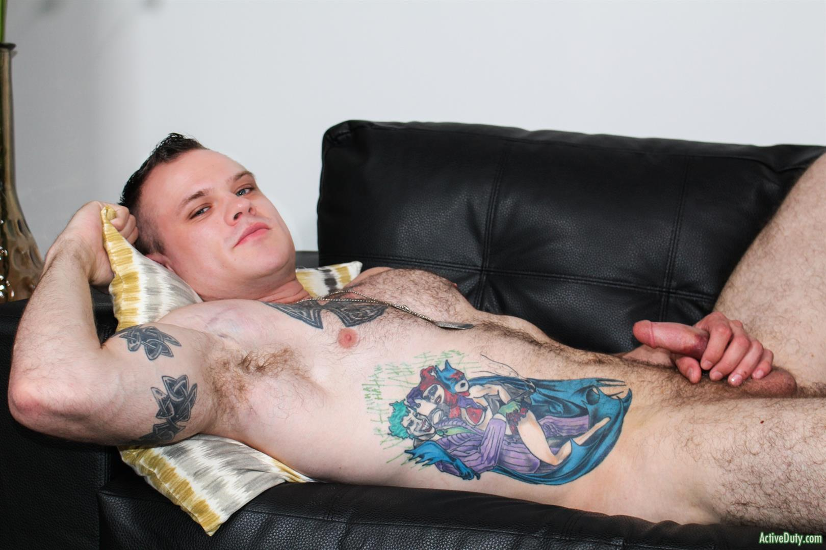Active-Duty-Cody-Smith-Army-Hairy-Muscle-Guy-Jerking-Off-Big-Dick-11 Hairy Tatted Muscle Army Soldier Jerking His Cock
