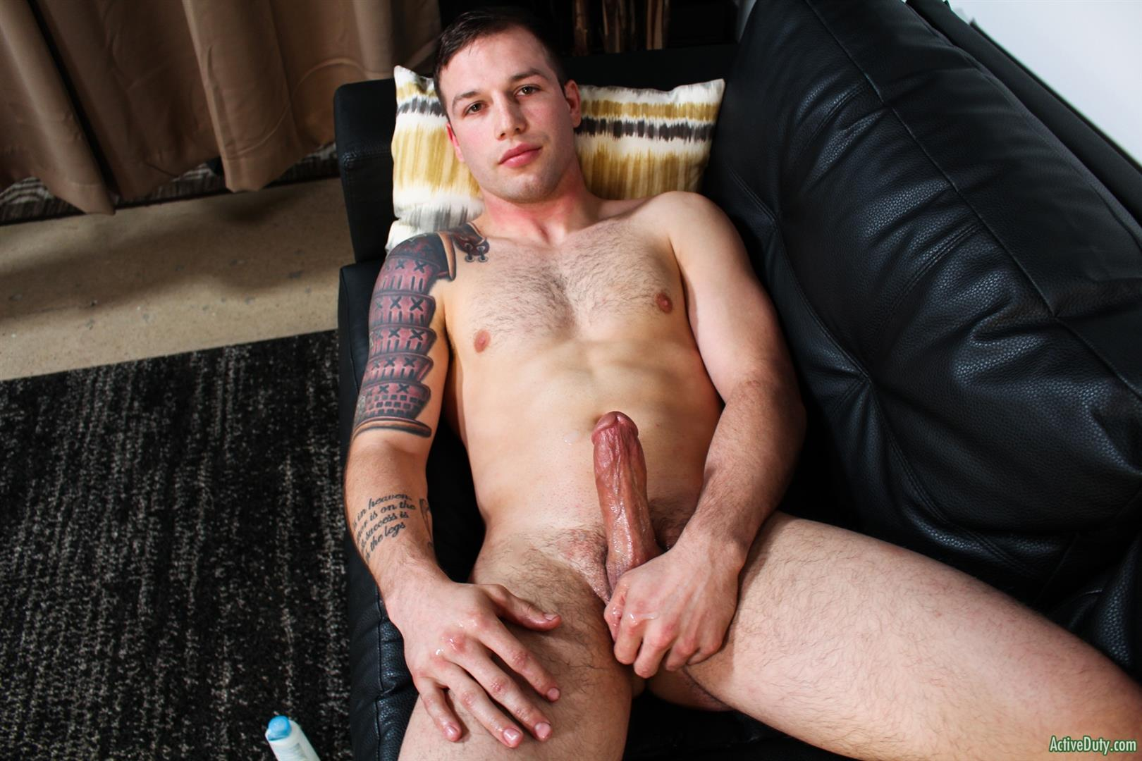 Active-Duty-Tim-Tank-Muscular-Marine-With-A-Thick-Cock-Jerk-Off-15 Muscular Straight Marine Jerking Off His Very Thick Dick