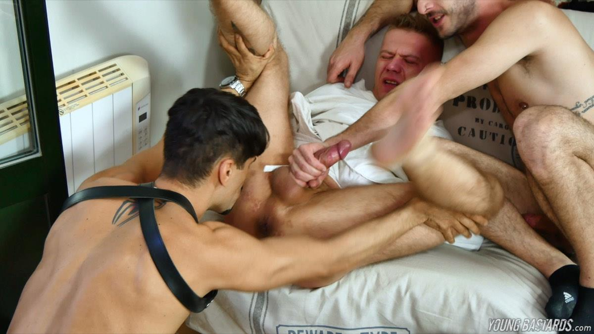 Young-Bastards-Oscar-Wood-and-Abraham-Montenegro-Big-Uncut-Cock-Bareback-Domination-27 Getting A Bareback Pounding In A Straight Jacked By Two Big Uncut Dicks