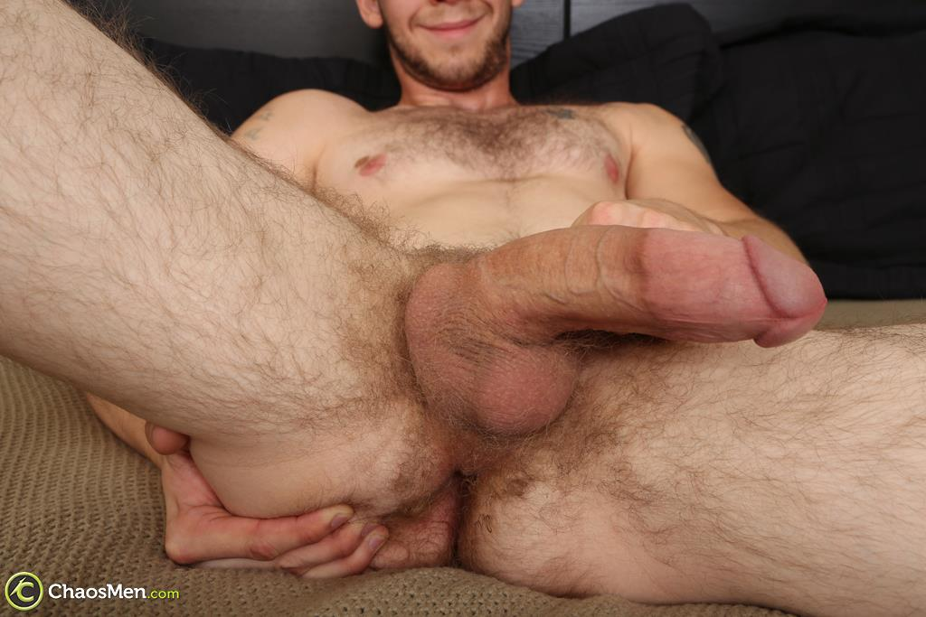 "Chaosmen-Beckett-Hairy-Otter-With-A-Thick-Cock-Jerking-Off-17 Bisexual Otter Hunk Strokes His Thick 8"" Big Cock"