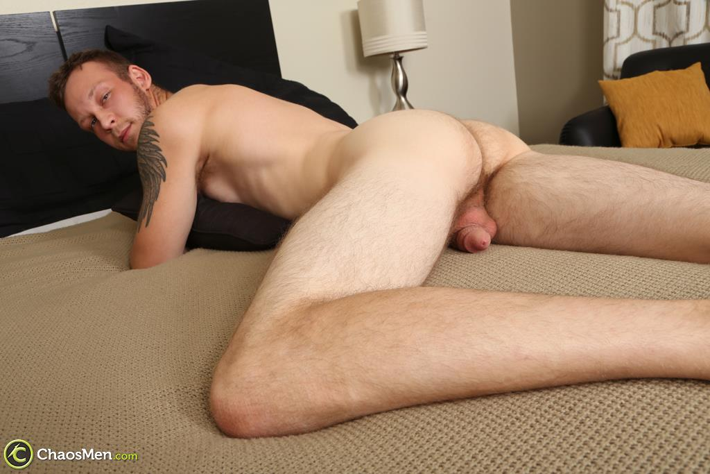 "Chaosmen-Beckett-Hairy-Otter-With-A-Thick-Cock-Jerking-Off-31 Bisexual Otter Hunk Strokes His Thick 8"" Big Cock"